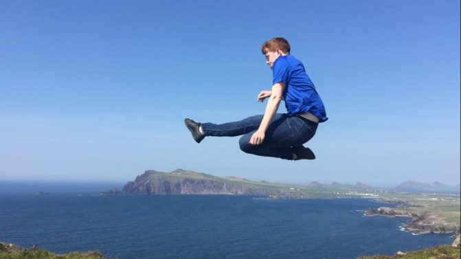 Top Ten Things To Do In Kerry - Celtic Steps Dancer Over Skellig Michael